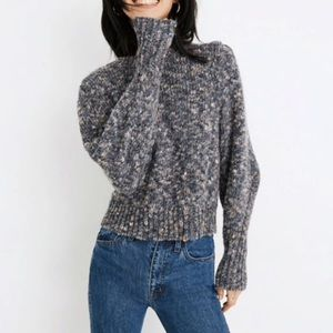 madewell pleat shoulder pullover sweater small